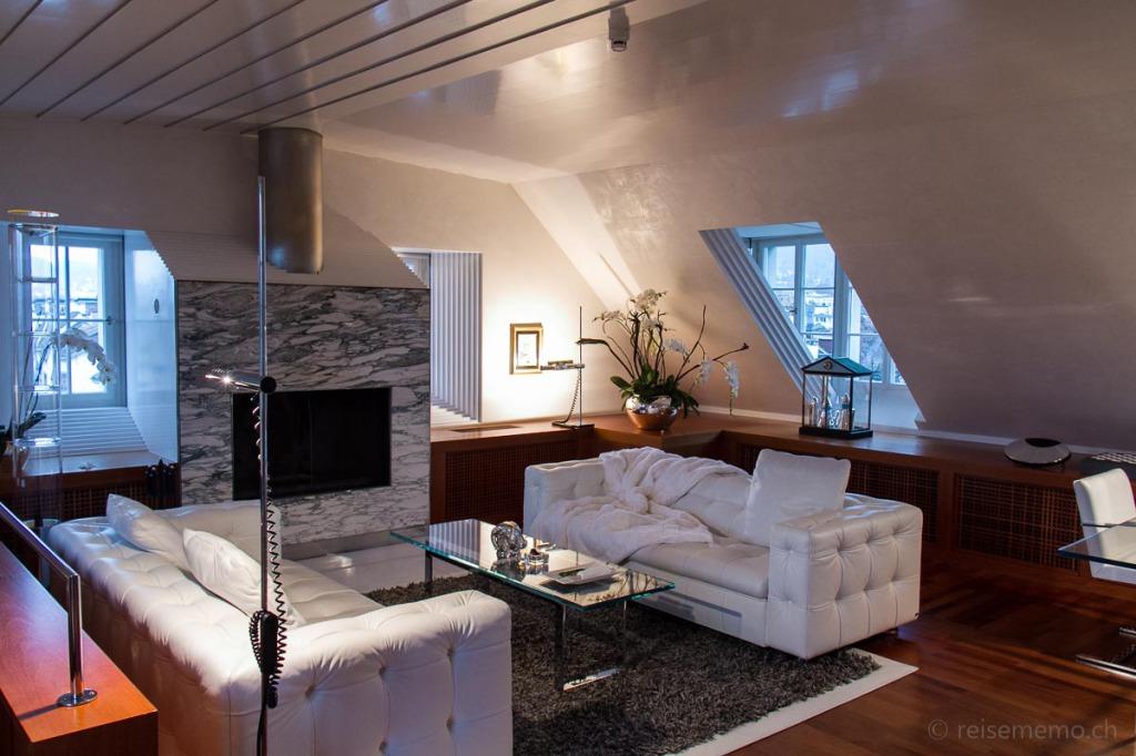 Penthouse Wohnung des Widder Hotels