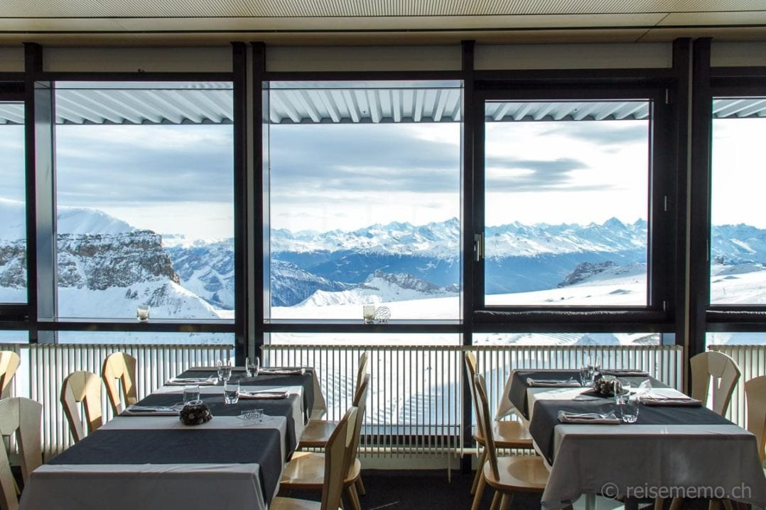 Aussicht vom Bergrestaurant Botta 3000