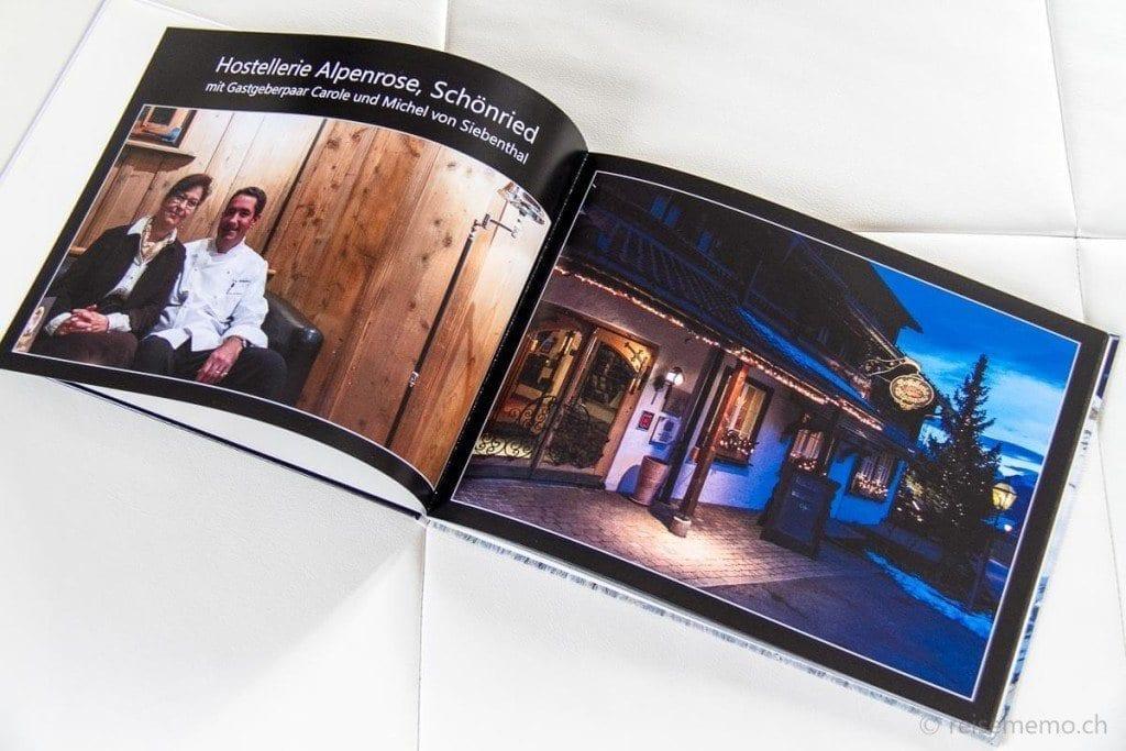 Beispielhafte Doppelseiten des Fotobuches