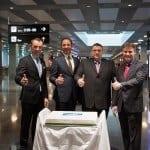 Kurt Eberhard CEO Hotelplan Suisse; Thomas Stirnimann CEO Hotelplan Groupe; Urs A. Pelizzoni Verwaltungsrat Germania Flug AG; Tobias Somandin CEO Germania Flug AG