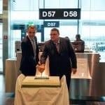 Kurt Eberhard CEO Hotelplan Suisse, Urs A. Pelizzoni Verwaltungsrat Germania Flug AG