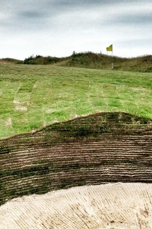 Sandbunker im Marine Golfplatz in Sylt