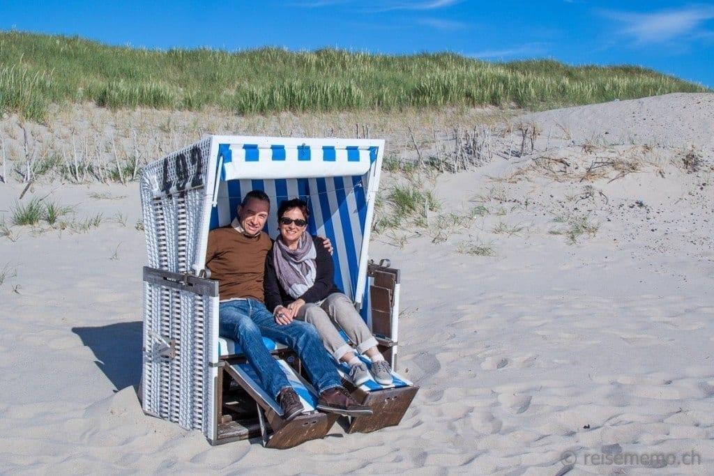 Katja und Walter im Strandkorb auf Sylt