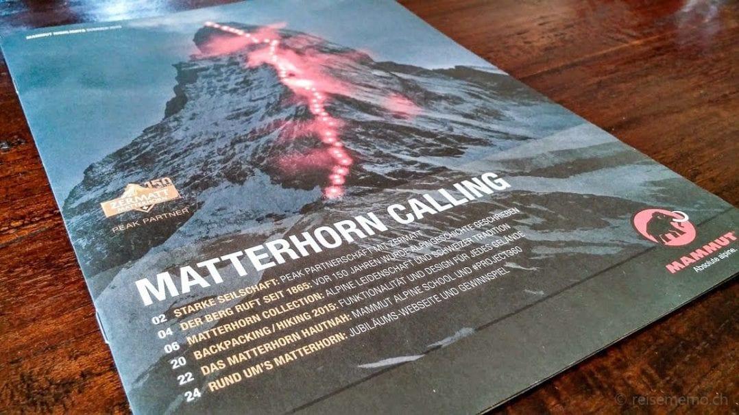 Matterhorn-Werbesujet von Mammut