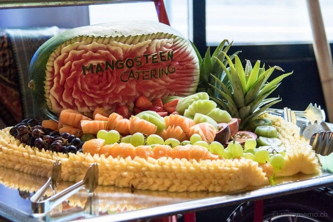 Früchtebuffet von Mangosteen Catering im Marriott Hotel Zürich