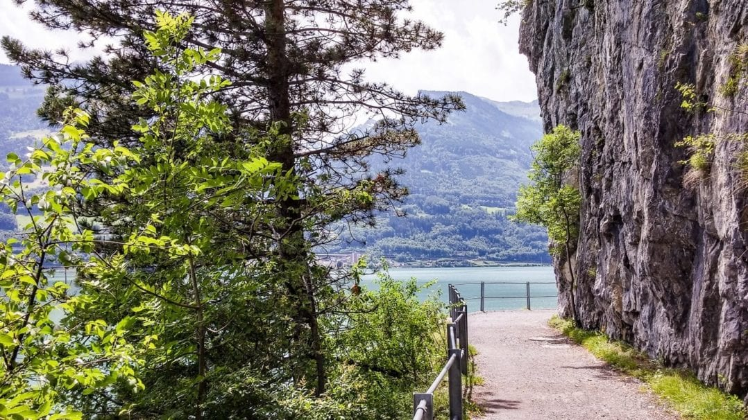 Hiking trail along the Walensee
