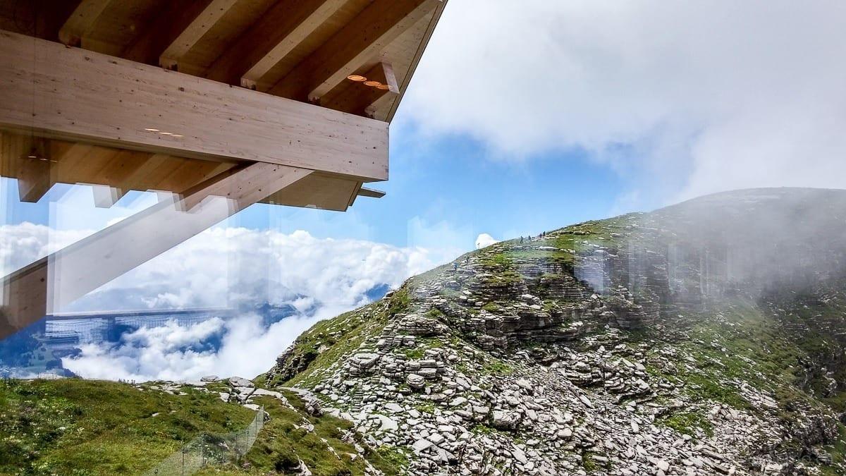 Aussicht aus dem Bergrestaurant auf die Churfirsten