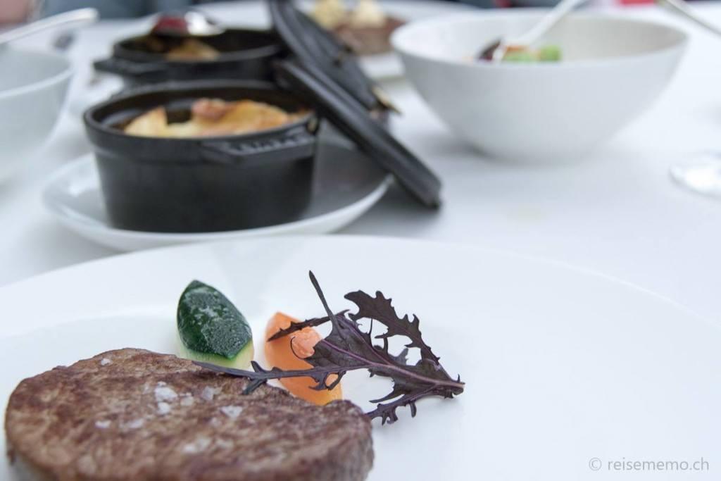 Beef filet in Hotel 7132's Restaurant Red