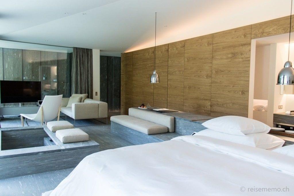 Living area in the Kengo Kuma Suite