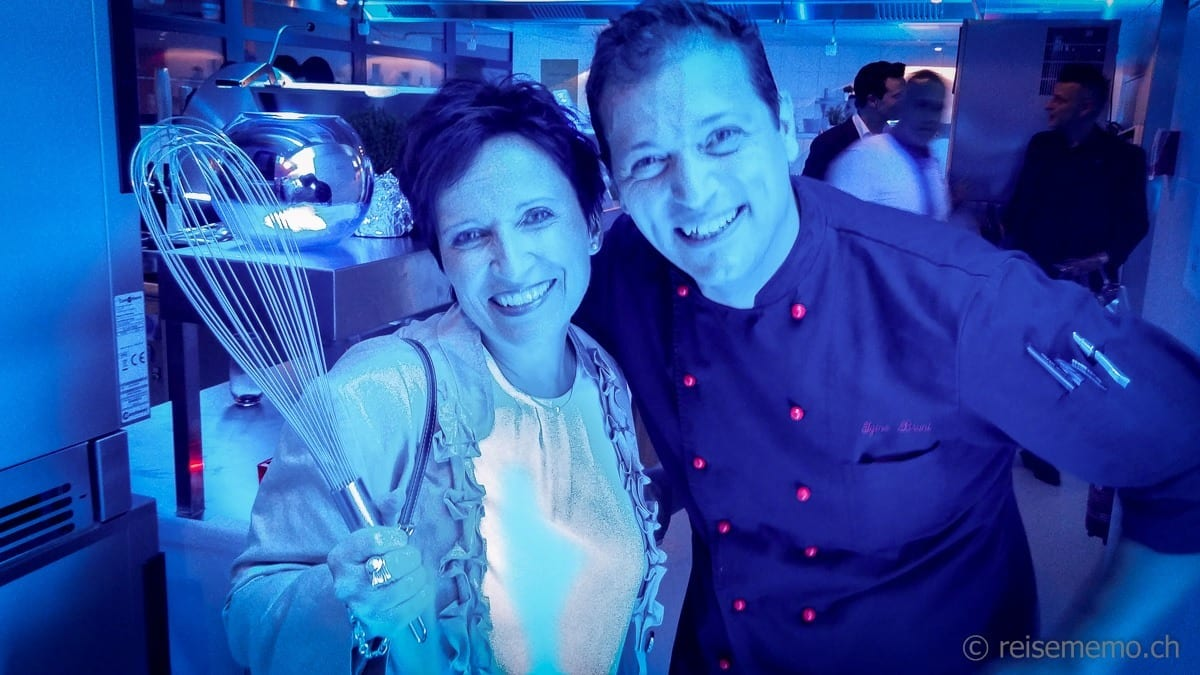 Katja Birrer mit Küchenchef Igino Bruni vom L'Unico Restaurant