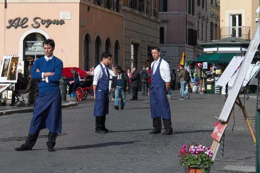 Michele Caporale und sein Team auf der Suche nach hungrigen Touristen
