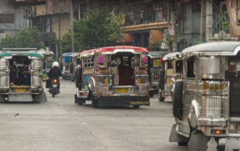 Jeepneys in Manila auf den Philippinen