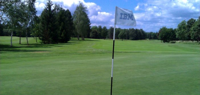 Green 18 des Golfplatzes Oeschbergerhof