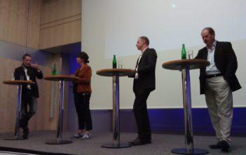 v.l.n.r Frank Senn, SF Dok, Moderatorin Monique Rijks, Peter Brun, Kuoni, Walter Hagenbüchle, NZZ