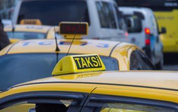 Istanbuler Taxis im Stau