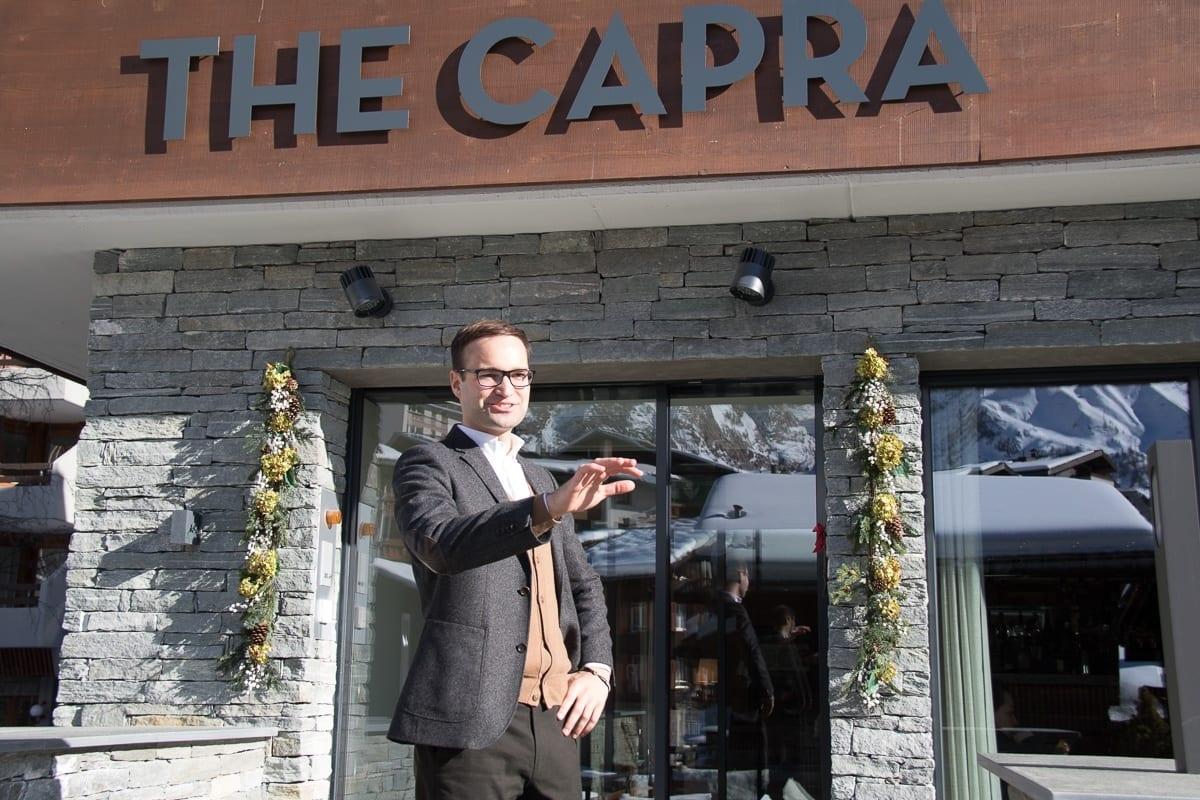 Raphael Herzog, Hoteldirektor The Capra Saas-Fee