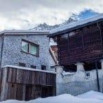 Walserhaus und modernes Chalet