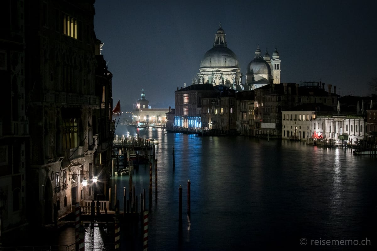 Venice by night: the Grand Canal