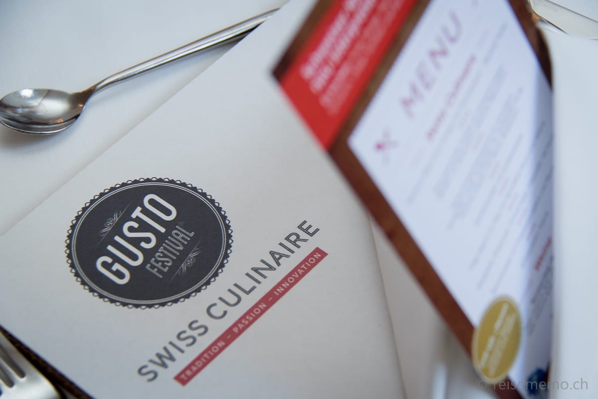 Menu des Swiss Culinaire Gustofestivals