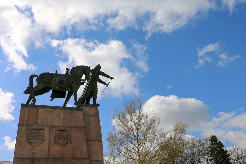 Denkmal Gediminas; Gründer von Trakai und Vilnius, einer der berühmtesten Herrscher des alten Litauens