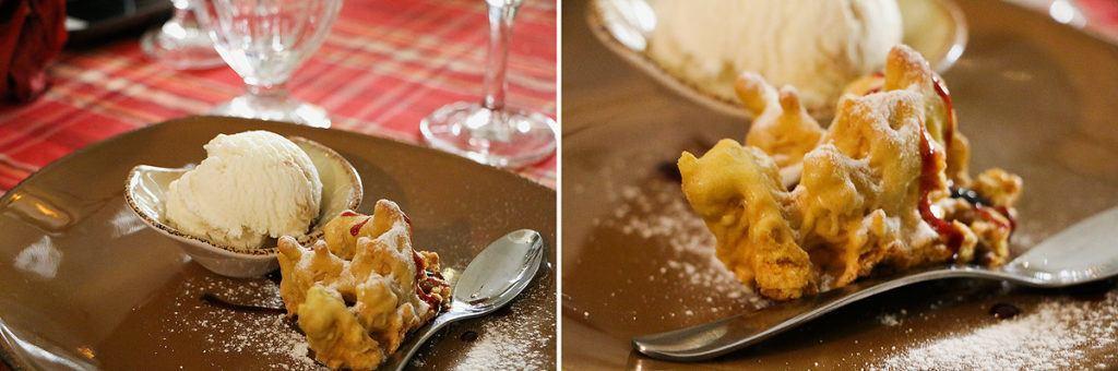 Sakotis, litauischer Baumkuchen und Eis