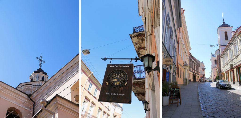 Vilniaus Dievo Gailestingumo šventovė, Stiklių gatvė, Mažasis pub'as, Dominikonų gatvé