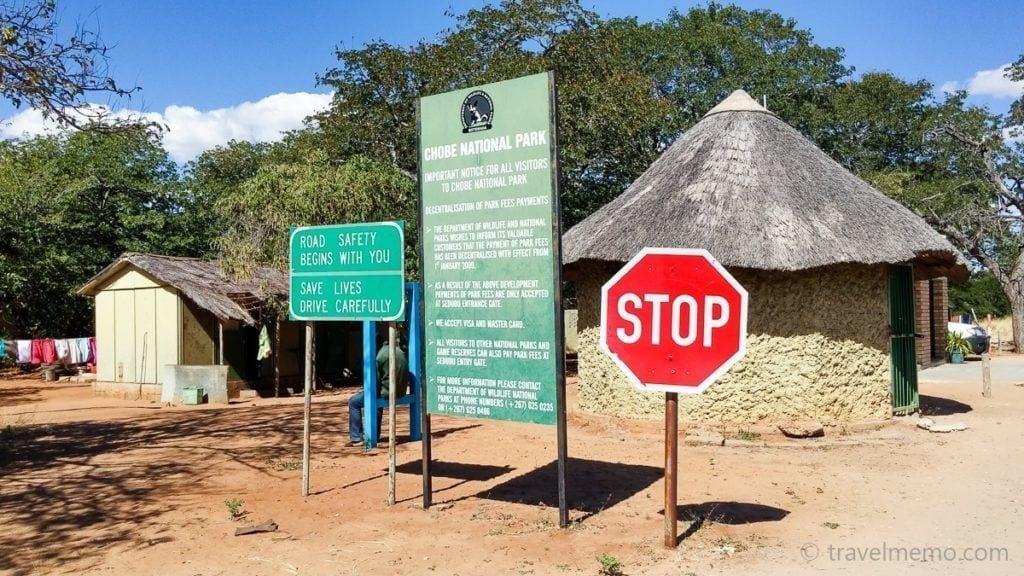 Eingang zum Chobe Nationalpark