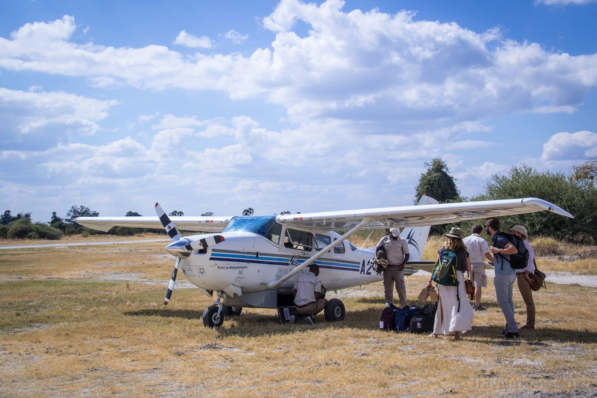 Cessna einer Flugsafari im Okavango Delta