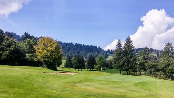 Hügelig golfen: Green in Oberstaufen-Steibis