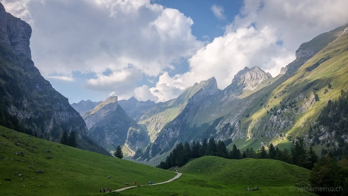 Hiking trail to the Seealpsee