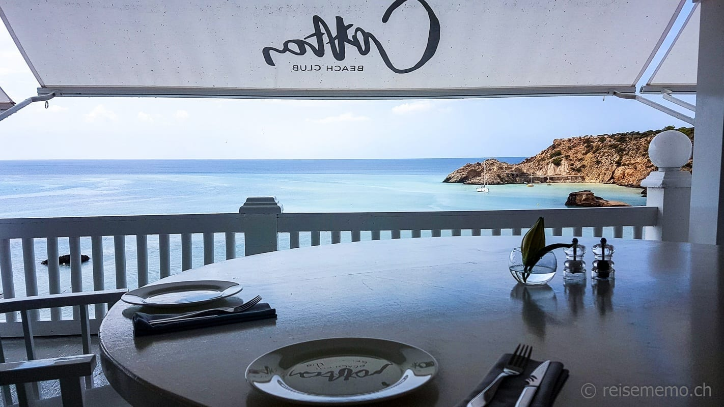 Cotton Beach Club Ibiza: Aussicht vom Restaurant