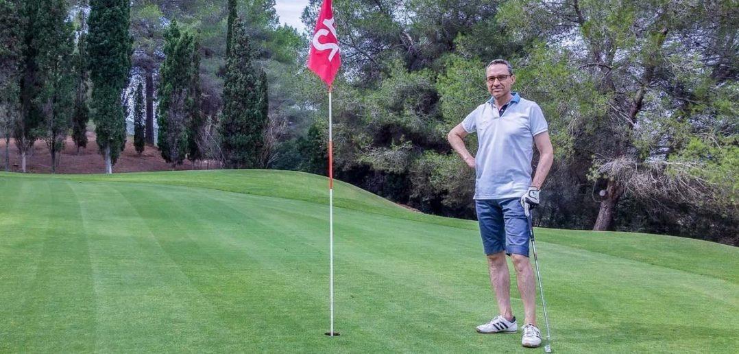 Walter Schärer auf dem Golfplatz von Ibiza