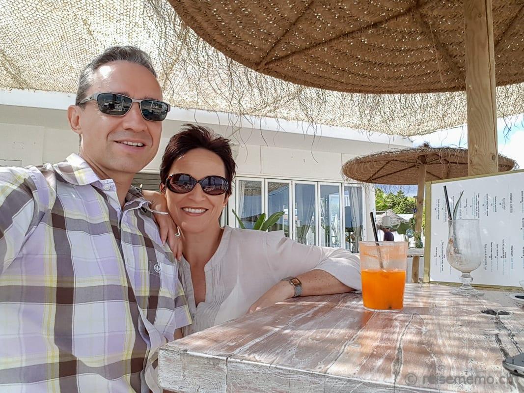 Walter & Katja im Atzaró Beach Club Ibiza