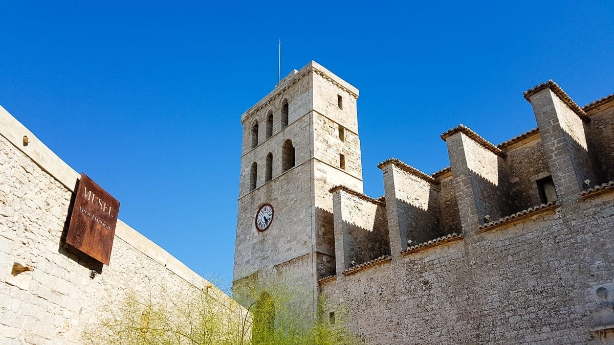 Ibiza castle and cathedral