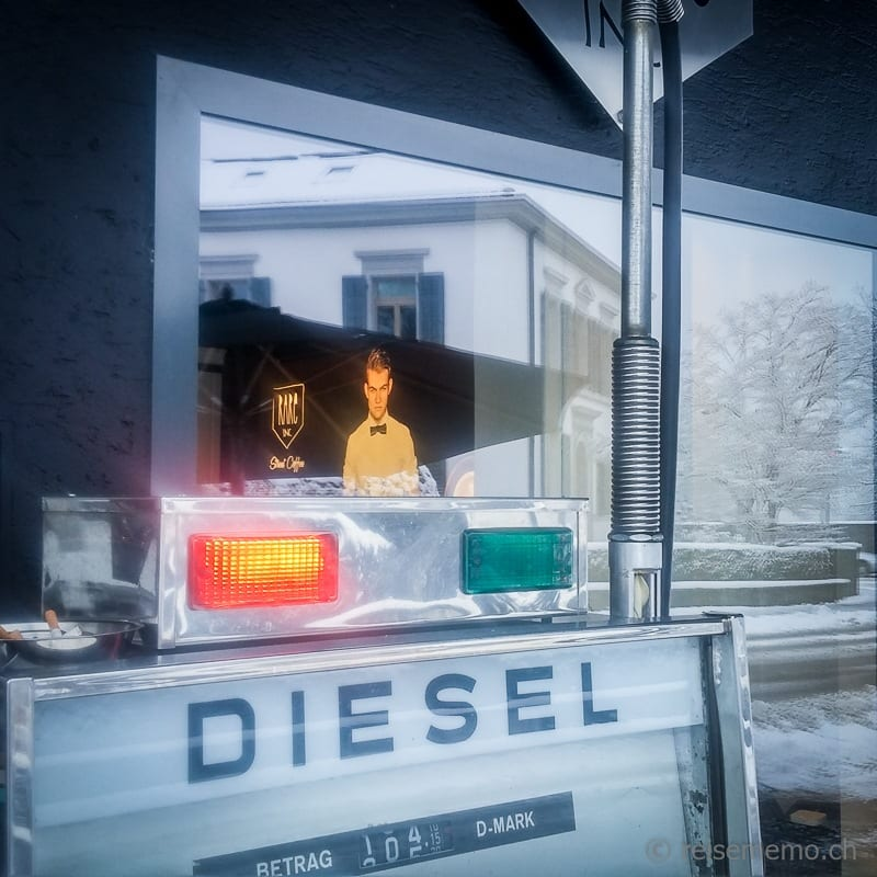 Diesel in D-Mark vom Rare Street Coffee