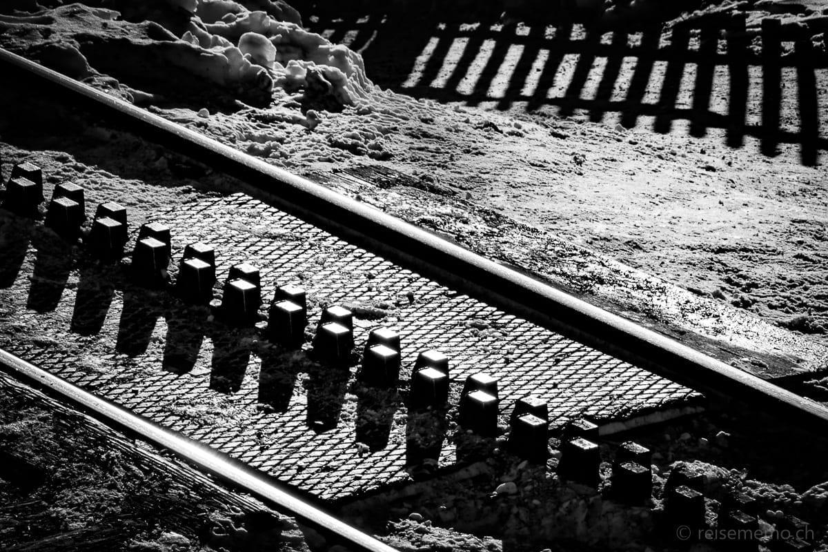 Cogs in the Gornergratbahn railway track