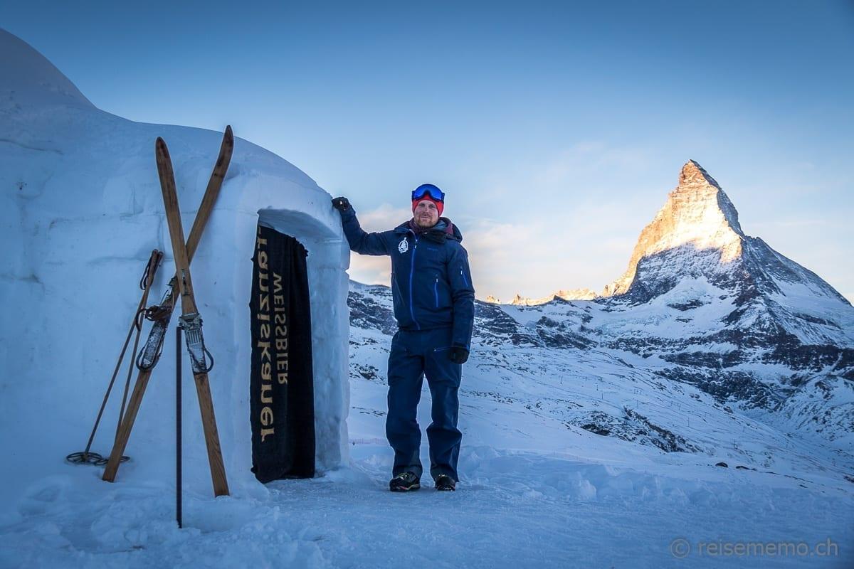 Aldo Balatti, Geschäftsführer des Iglu-Dorfs Zermatt
