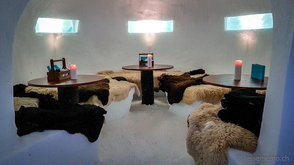 Restaurant im Iglu-Hotel