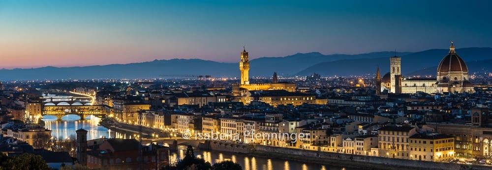 Aussicht auf Floren vom Piazzale Michelangelo