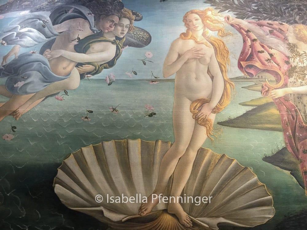 Botticellis Venus in den Uffizien Florenz