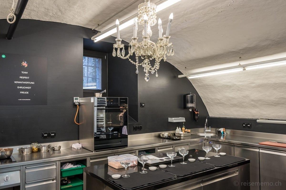 Küche und Werte von Schloss Schauenstein: Team, Respekt, Verantwortung, Ehrlichkeit, Freude