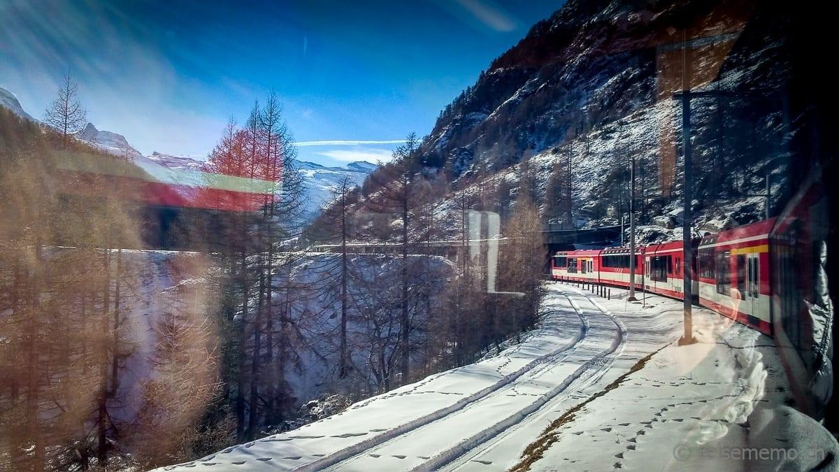 Anreise nach Zermatt im Zug