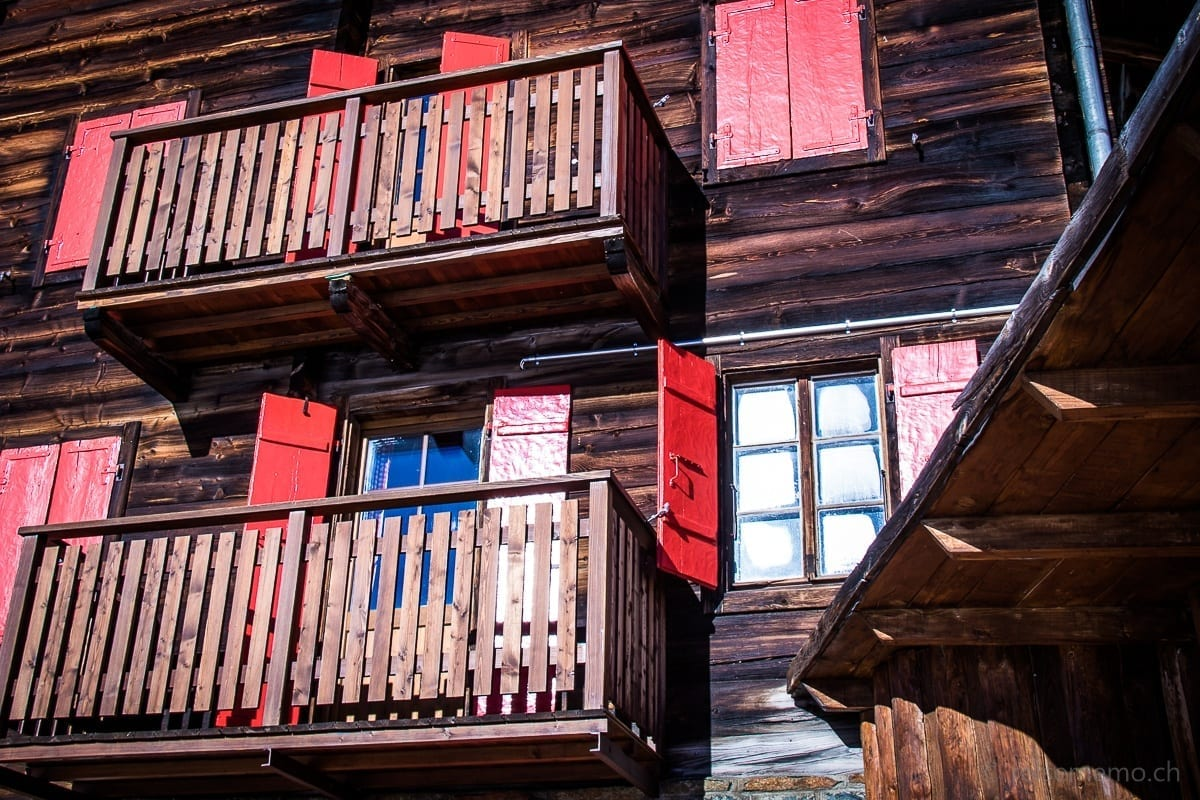 Balkone im Hotel Fluhalp