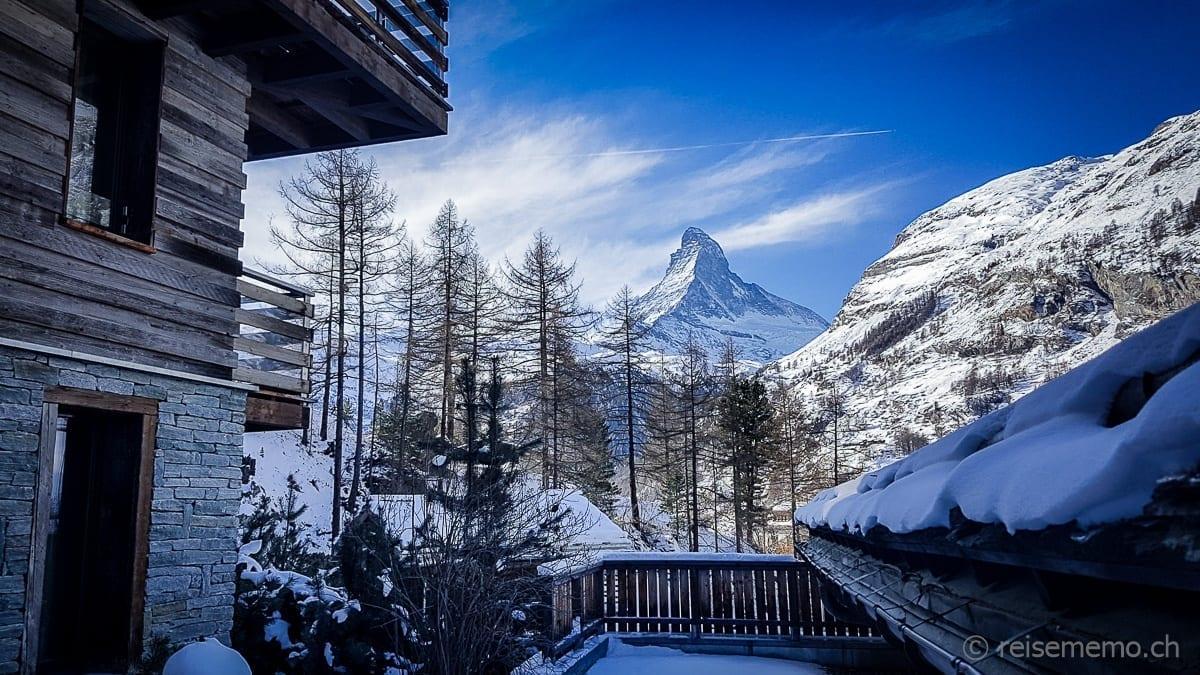 Aussicht vom Cervo Hotel aufs Matterhorn