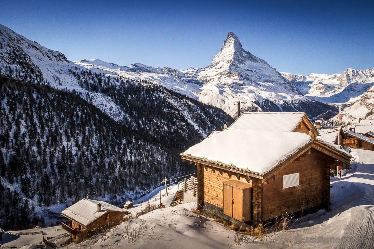 Findeln mit Blick aufs Matterhorn