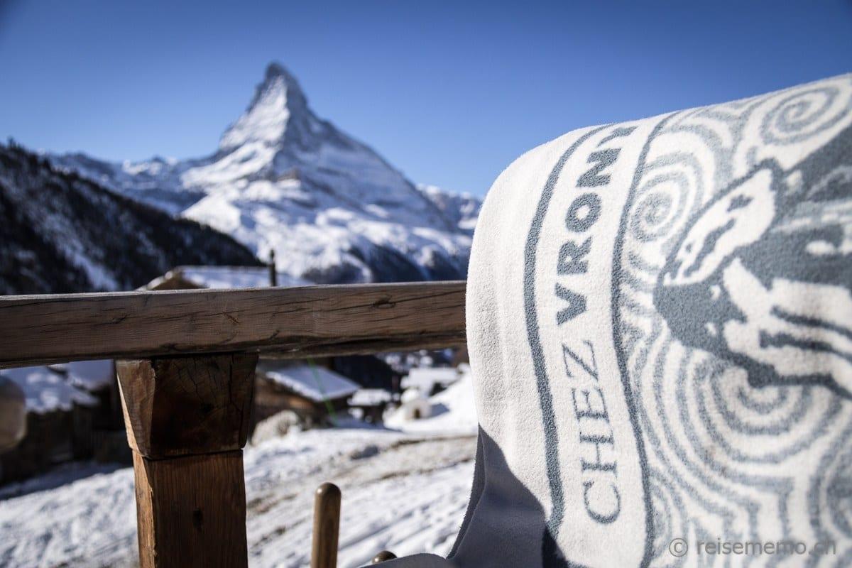 Aussicht aufs Matterhorn