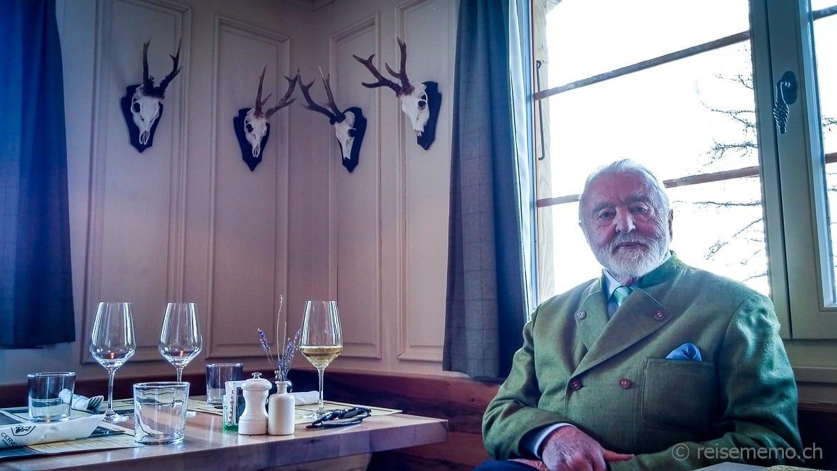 "Seniorchef Daniel Lauber im Cervo Restaurant ""Puro"""