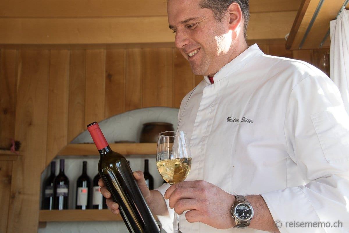 Gaston Zeiter Gastgeber Restaurant Paradies Zermatt