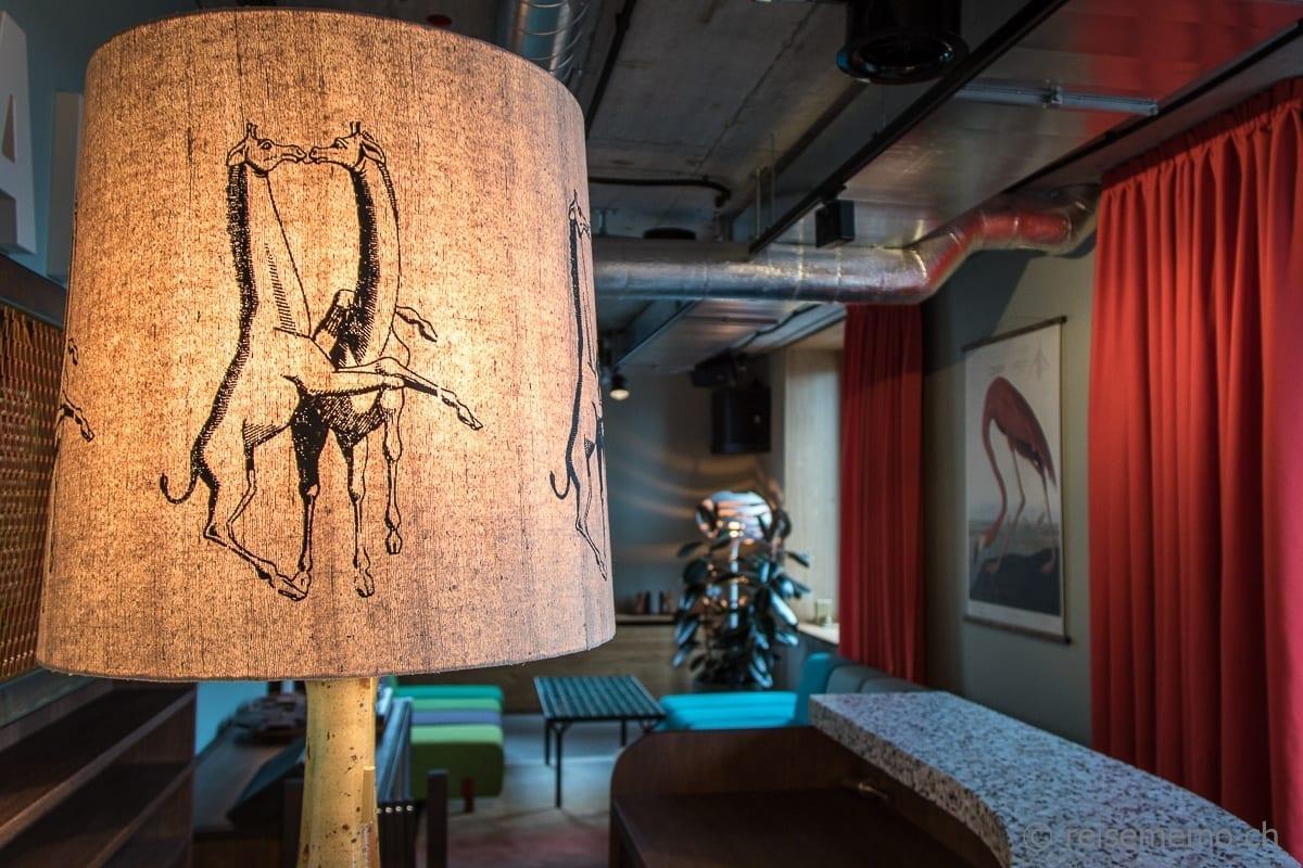 Lampenschirm in der Lounge