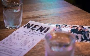 NENI Restaurantrechnung mit Molcho Postkarte